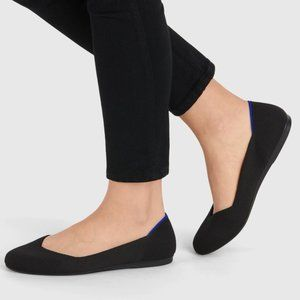 Rothys Solid Black Round The Flat Flats Sz 7